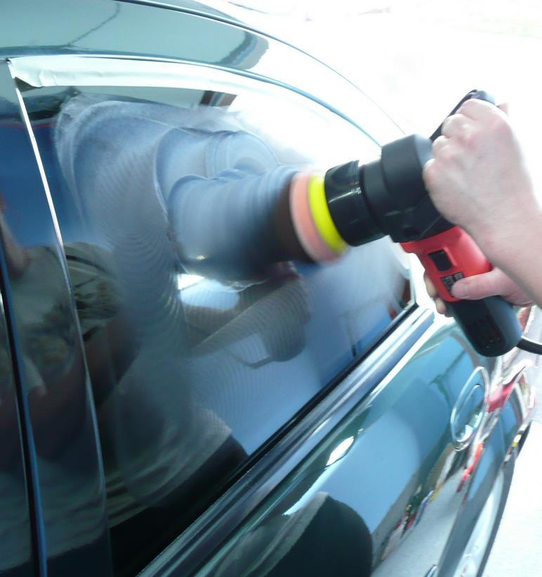 Полировка стекла автомобиля от царапин своими руками
